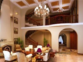 美式 别墅 托斯卡纳 高富帅 有钱任性 客厅图片来自重庆高度国际装饰工程有限公司在誉天下的分享