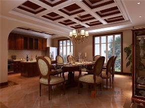 美式 别墅 托斯卡纳 高富帅 有钱任性 餐厅图片来自重庆高度国际装饰工程有限公司在誉天下的分享