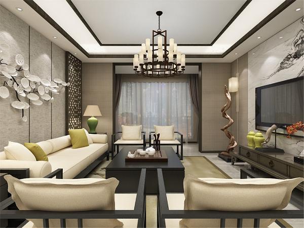 主要采用硬朗、简洁的新中式直线条,空间具有层次感,既使得中式家具古典质朴的内涵显现,又符合现代人追求的时尚感、实用性。中国风并非完全意义上的复古明清