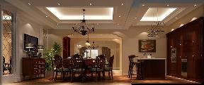 托斯卡纳 别墅 收纳 高富帅 白富美 餐厅图片来自重庆高度国际装饰工程有限公司在天竺新新家园-托斯卡纳的分享