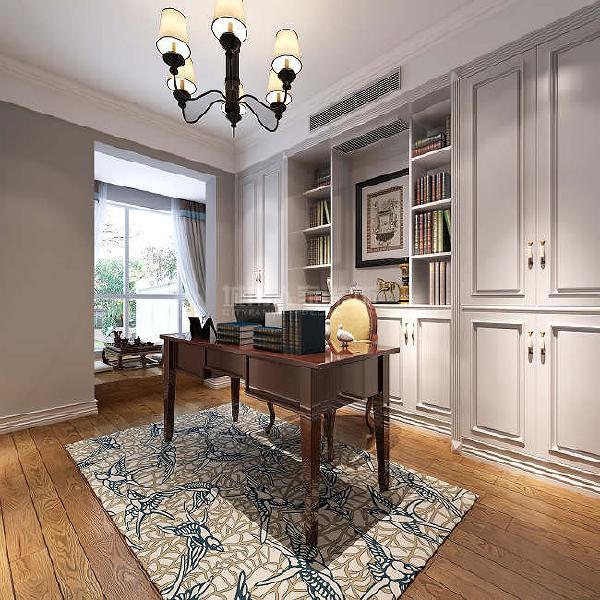 书房以整面墙做柜子,再多的书都不怕没位放了。读书累了栖坐于小阳台品茶静思,可谓一大享受。