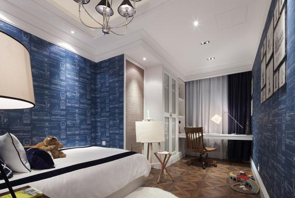 珠江逸景花园260㎡北欧风格.卧室效果图