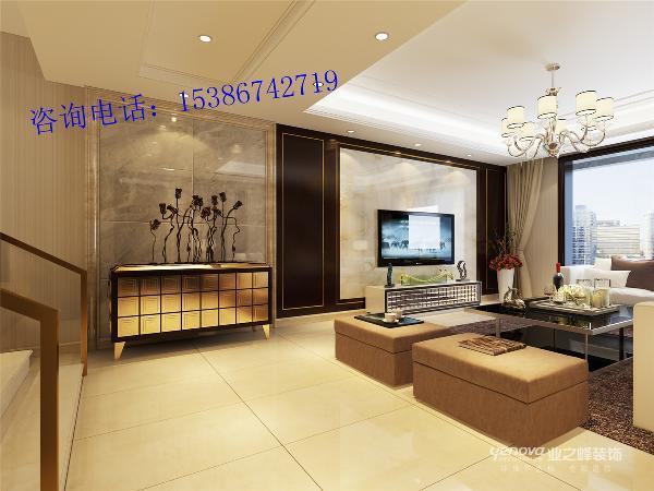 龙景逸墅185平米现代轻奢风格装修效果图----太原业之峰装饰