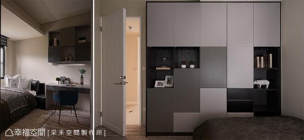 采光较好的大儿子房,以黑、灰、白三色铺陈,展现现代风的个性表情。