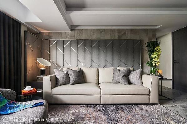 融入墨晕设计概念,地面与墙面使用大量灰色石材做出分割效果,形塑个性简洁的场域表情。