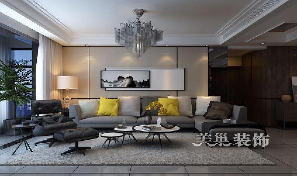 正商书香华府175平四室两厅港式风格经典舒适:沙发墙