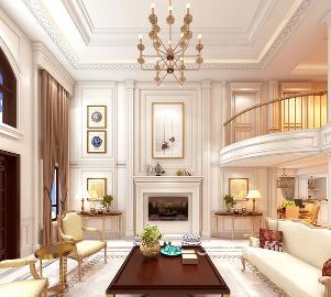 郑州自建430平方别墅美式设计