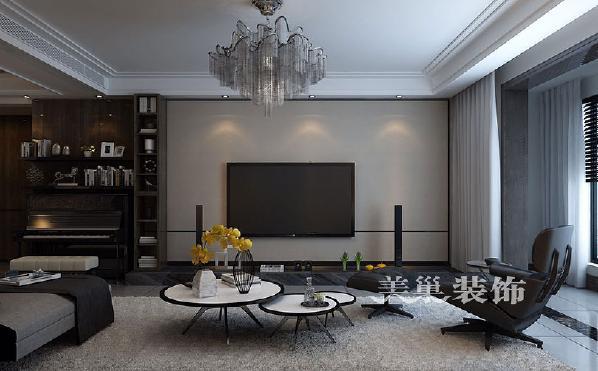 正商书香华府175平四室两厅港式风格经典舒适:电视墙