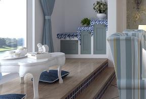 地中海 二居 文艺范 阳台图片来自创之鸿在90㎡地中海风格两居室的分享