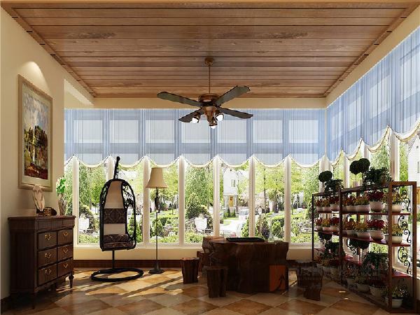 阳光房:忙碌之余,有那么一处空间可以肆无忌惮地遐想,眺望、品茶、阅读,那该有多惬意。