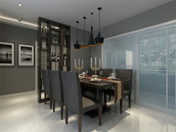 整体方案采用黑白灰,多用黑白为基调色,通过色块来表现内涵,如木色地板奶灰色色墙漆等色调表现家居的稳重大气;