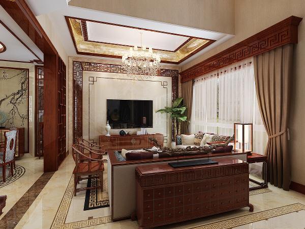 中式传统的室内设计融合了庄重与优雅双重气质,中式风格更多的利用了后现代手法。