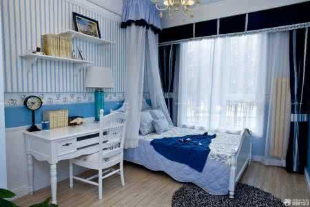 地中海风格卧室,宜居豪庭装饰工程公司装修效果图