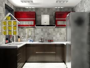 混搭 三居 80后 厨房图片来自南昌楷模家居生活馆在万科地铁138平现代简约的分享