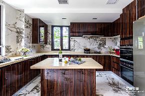 现代中式 中博装饰 别墅 白领 小资 收纳 混搭 厨房图片来自中博装饰在府尚别墅400方现代中式舒适居家的分享