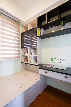 简约 三居 白领 收纳 80后 小资 书房图片来自萩尔空间设计在小酒窝的分享