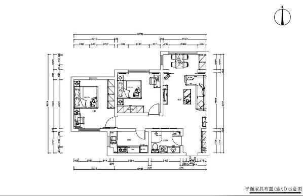 客厅空间大小适中,客厅阳台作为餐厅使用,增加了客厅的使用空间,使客厅空间更加的敞亮,如果把用两边门打开正好形成过堂风,南北通透,采光充分,有利于室内空气流通,使客厅的空间感增强。