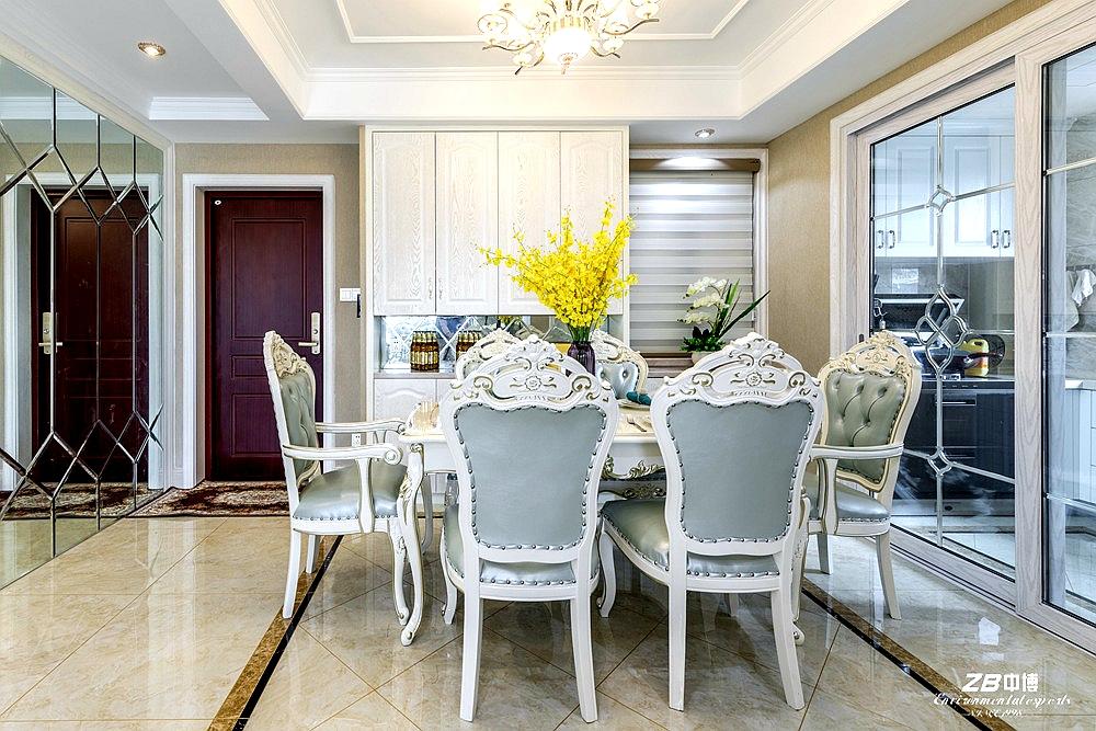 欧式 三居 白领 收纳 小资 中博装饰 餐厅图片来自中博装饰在华瑞晴庐110方欧式舒适居家的分享