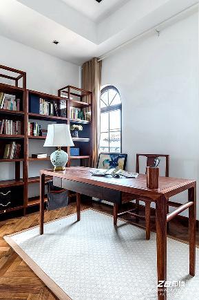 现代中式 中博装饰 别墅 白领 小资 收纳 混搭 书房图片来自中博装饰在府尚别墅400方现代中式舒适居家的分享