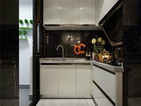 简约 现代 三居 小资 80后 大户型 厨房图片来自高度国际姚吉智在136平米现代简约黑白永恒经典的分享