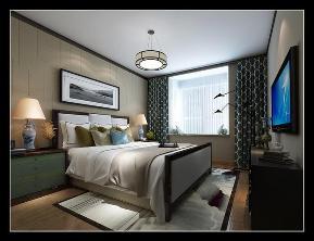 三居 新中式 保利拉菲 装修公司 装修效果图 卧室图片来自石家庄实创装饰公司在新中式装修效果图 好爱这个走廊的分享
