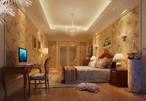 卧室图片来自名雕丹迪在燕晗山居-混搭风格装修的分享