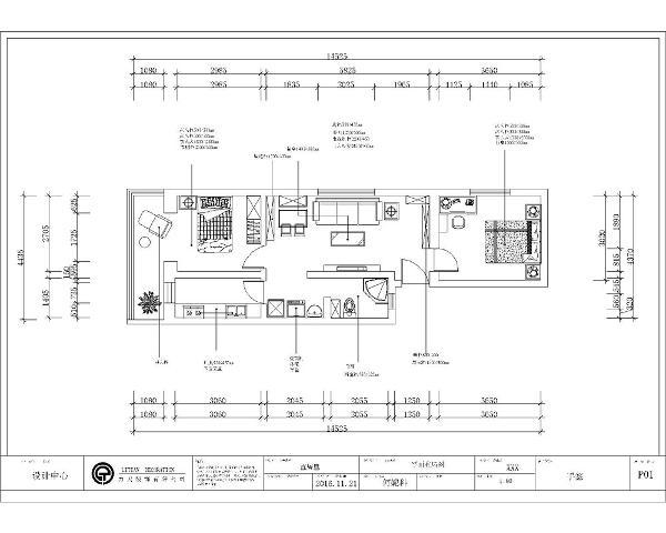 两室的每个空间并没有很大,在布局时既要考虑美观又要考虑空间的实用性。房子的门厅一进门地方空间小,利用低,造成了空间不足。餐厅区域也是一样,空间小利用率低,在后期设计时应用心。