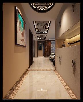 三居 新中式 保利拉菲 装修公司 装修效果图 玄关图片来自石家庄实创装饰公司在新中式装修效果图 好爱这个走廊的分享