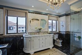 欧式 别墅 卫生间图片来自设计师小郭在290㎡欧式风格别墅设计的分享
