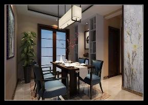 三居 新中式 保利拉菲 装修公司 装修效果图 餐厅图片来自石家庄实创装饰公司在新中式装修效果图 好爱这个走廊的分享