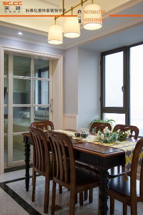 简约 田园 欧式 混搭 三居 旧房改造 实创装饰 餐厅图片来自邯郸实创在邯郸实创装饰美的城美式装修案例的分享