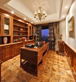 别墅 欧式 混搭 书房图片来自名雕丹迪在天御山-美式风格的分享