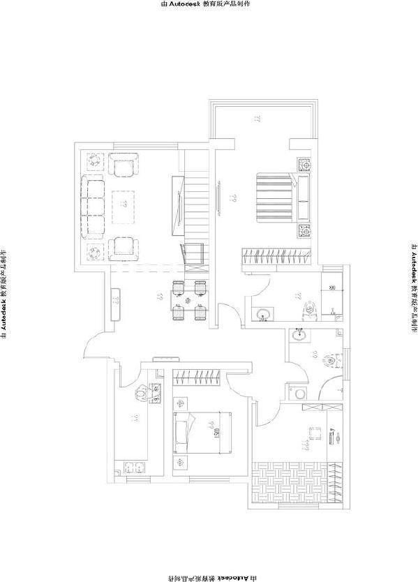 复式住宅装修设计平面图