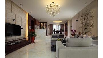 翰林国际城混搭三居室效果图