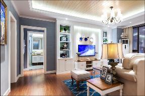 简约 田园 二居 白领 80后 小资 客厅图片来自乐粉_20170523094252350在89平米地中海风格样板房的分享