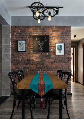 餐厅图片来自家装大管家在86平温暖工业风婚房 色彩的魔力的分享