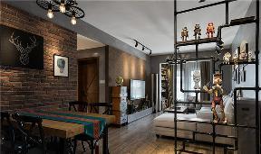 客厅图片来自家装大管家在86平温暖工业风婚房 色彩的魔力的分享