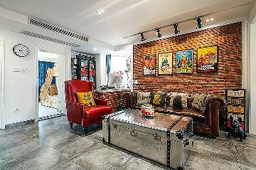 候潮公寓89方现代工业混搭风格
