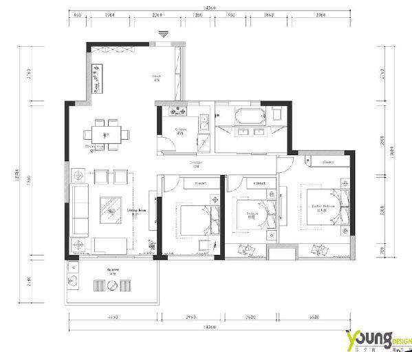 【深圳漾空间设计有限公司】漾设计Young Design——平面图