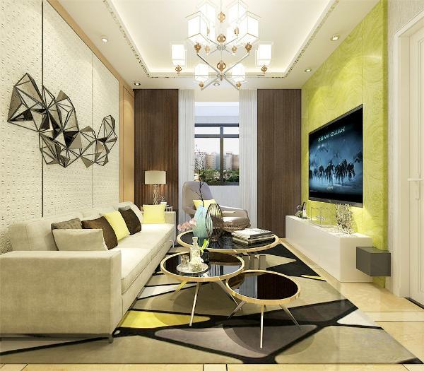 电视背景墙采用木质柜子,在客厅电视背景墙的装饰上,充分展示了简约不简单的设计理念。在电视墙的设计上,我们采用了大理石,使得现代感十足,在沙发背景墙上采用艺术装饰,突出空间的时尚感。