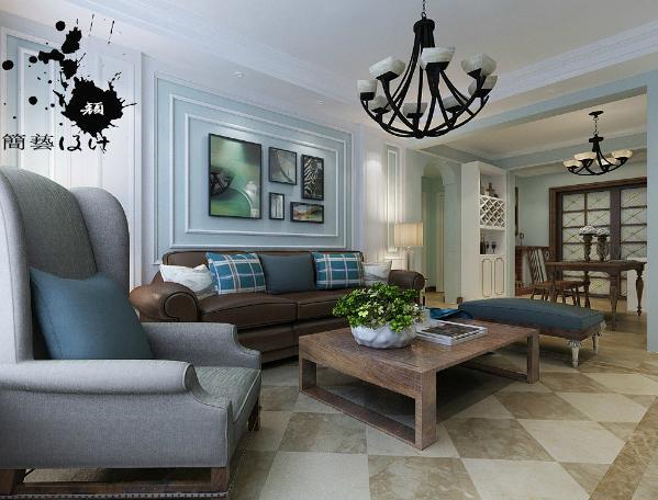 主流的美式风格装修沙发背景墙