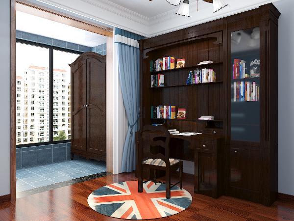 书房简单实用,象征主人过去的生活经历的陈设一应俱全