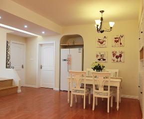 田园 餐厅图片来自峰光无限装饰小陈在华远海蓝城-二居室-70㎡田园风格的分享