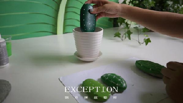 将花盆装满盆栽土或者小石子后,铺上白色小石子做装饰,装至花盆口一厘米左右的距离。