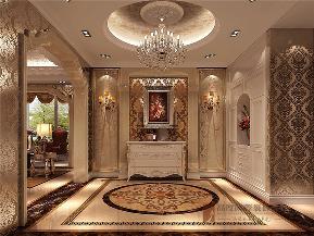 欧式 别墅 小资 80后 大户型 V7西园 玄关图片来自高度国际姚吉智在219㎡欧式别墅奢华独显豪气尊贵的分享