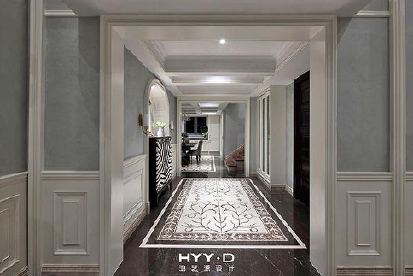 玄关厅 像是流动的音符,于指缝间轻轻掠过,整个空间在流动的曲线中自由开合。