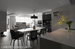 四居 现代 餐厅图片来自幸福空间在光影漫步 149平玩味靛色空间的分享