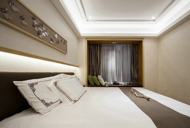 简约 三居 小资 新中式 卧室图片来自游小华在新中式---禅意《清风韵》的分享