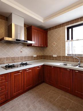 欧式 新古典 别墅 小资 80后 大户型 高帅富 厨房图片来自高度国际姚吉智在200㎡欧式古典诠释朦胧浪漫之美的分享