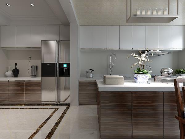 在色彩上,居室的设计继承了传统中式的雅致的颜色,同时加入现代元素较强的颜色,让简中式有时尚感